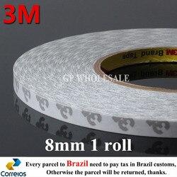 1x8mm largura x 50 m comprimento 3 m 9080 dupla face adesivo fita adesivo retrabalho para led ipod tela ácido acrílico pegajoso