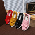 2016 new spring autumn bow cute pu shoes for girls candy color sets foot shoes princess kids leather shoes casual flats shoe