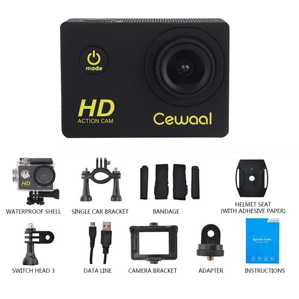 Cewaal Mini-actiecamera Full HD 1080P camcorder Videorecorder 30 m - Camera en foto