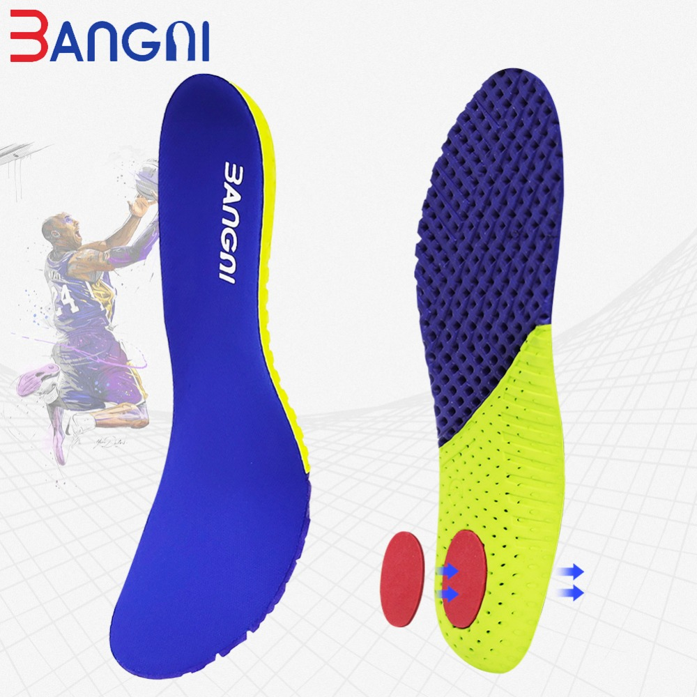 3ANGNI 1 Pair Shoe Insole Accessories PU EVA Foam Sport Running Arch Support Insert Woman Men Feet Heel Pain Insoles Soles