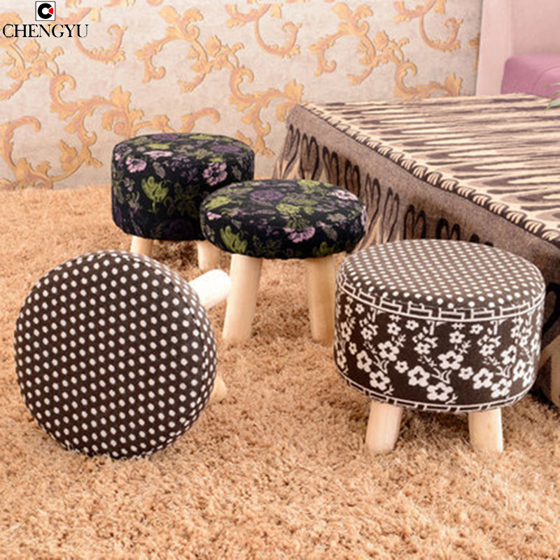 23 Styles Fashion Stool Solid Wood Simple Small Bench Sofa Creative Removable Small For Shoe Stool  32*28cm wooden small stool solid wood sofa stool fabric small bench mushroom stool low fashion creative shoes for shoe stool 28 28 21cm
