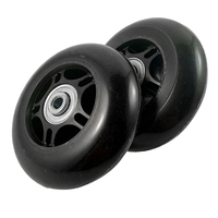 5pcs( ABDB 2 Set Luggage Suitcase Replacement Wheels OD 80mm