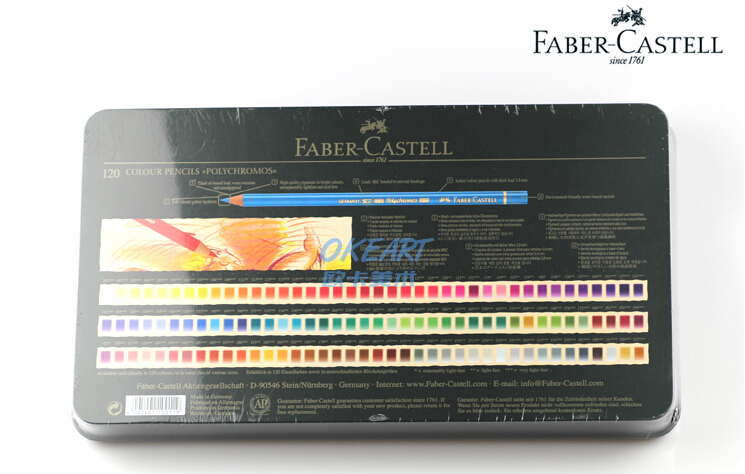 hot 3 8mm big core germany faber castell artist oily color pencil green metal box 120 color. Black Bedroom Furniture Sets. Home Design Ideas