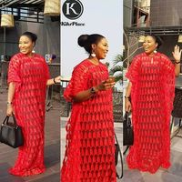 2018 Latest French Nigerian Laces Fabrics High Quality Tulle African Laces Fabric Wedding African French Tulle Lace SAE6056 RED