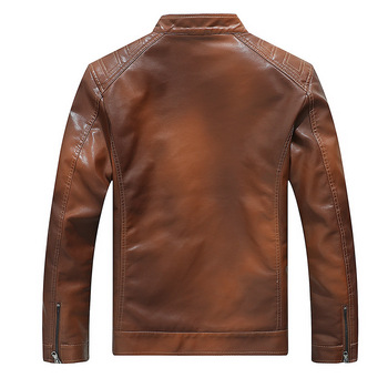 2019 Men Gradient Cool Leather Jackets Autumn Winter Motorcycle Casual Thick Man Coat Hip Hop Bomber Jacket Windbreaker YN10372