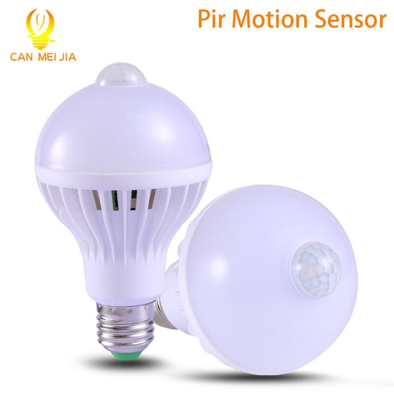 Фотография Светодиодная лампа со встроенным датчиком движения и освещенности