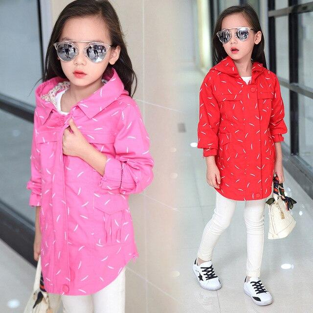Children Winter Outwear Hooded Jacket  Girls Jackets Coats Children's Coat Spring/Autumn Fashion Children Raincoat Clothing