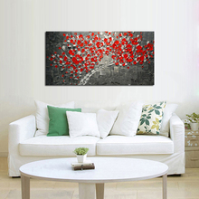 Handmade Abstract Beautiful Flower Tree Oil Painting On Canvas Picture Wall Art Home Decoration Nice Gift