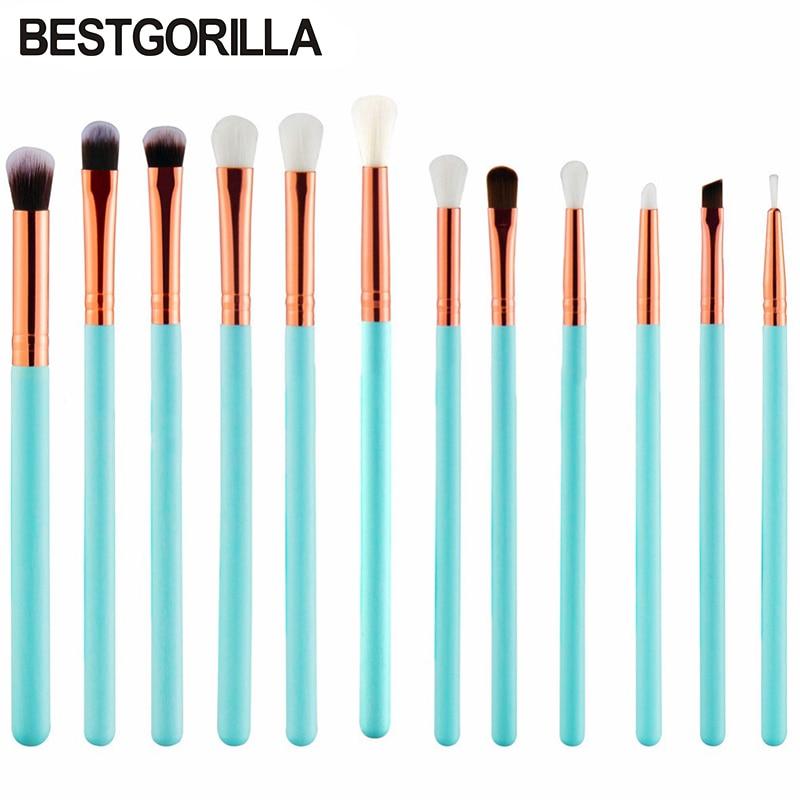 New 12pc/set Eye shadow brush Makeup Brushes Set Cosmetic Foundation Eys shadow Blusher Powder Blending Brush beauty tools kits cosmetic makeup 24 color eye shadow 3 color grooming powder 3 color blusher palette black