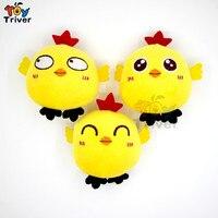 Wholesale 100pcs Kawaii Yellow Chicken Chick Doll Plush Toys Keychain Pendant Birthday Christmas Wedding Party Small Gift Triver