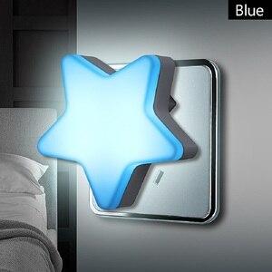 Image 1 - LED gece lambası sensörü kontrol enerji tasarrufu mini lamba oturma odası yatak odası aydınlatması abd/ab tak ночник çocuk gece lambası ışık
