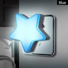 مصباح LED ليلي بمستشعر للتحكم في توفير الطاقة مصباح صغير إضاءة غرفة المعيشة وغرفة النوم قابس الولايات المتحدة/الاتحاد الأوروبي مصباح إضاءة ليلي للأطفال