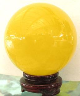 Natural Iceland night ball pearl yellow luminous ball Feng Shui turn dribble