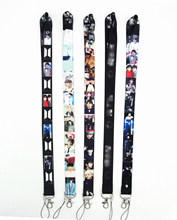 10pcs per lot KPOP lanyard Sugar Tata V Jimin J-hope cell phone lanyard for keys badge holders KPOP lanyard advertising gifts(China)