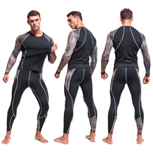 Mens Thermal Underwear  Quick-drying Jogging Suit Tights Winter Warm Sportswear Running Trousers Base layer Leggings Men S-4XL