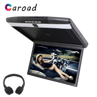 Caroad MP5 Player 17.3 HD 1080P TFT LED Screen Flip Down Roof Mount Monitor With IR/FM Transmitter/USB/SD/HDMI/Sperker Car TV