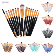 15Pcs Makeup Brush Prefessional Makeup Tool Foundation Blush Brush Eyeshadow Brush Eyelash Makeup Beauty Tool Soft Nylon Brusher soft bristle makeup brush 15pcs