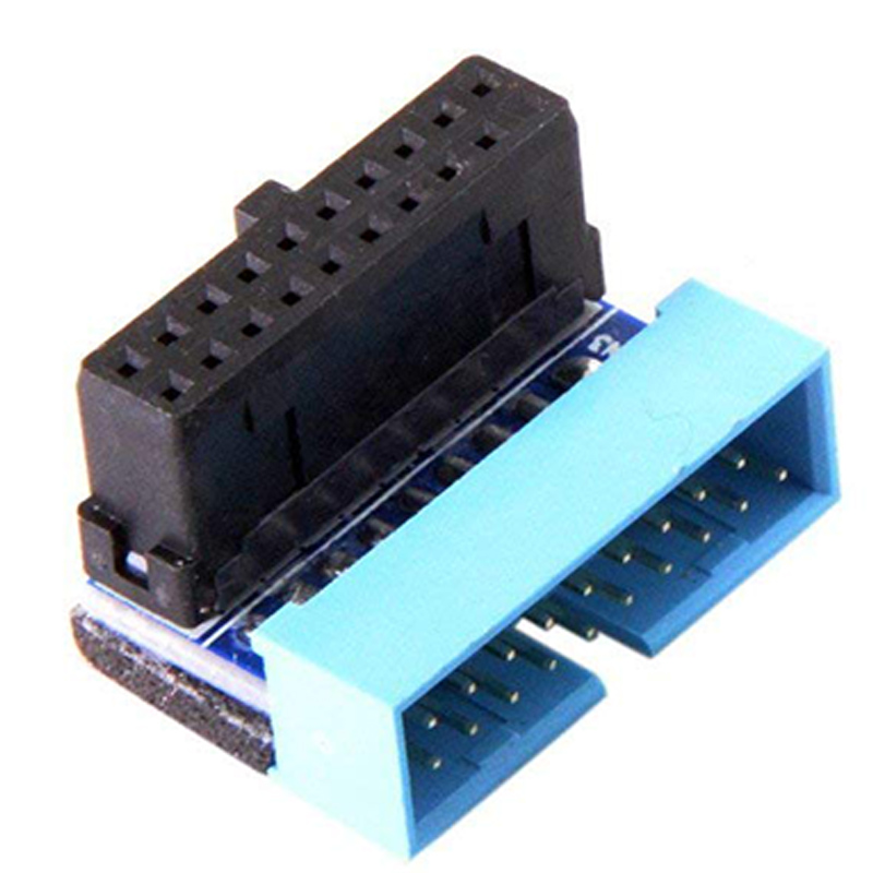USB 3.0 20pin Male to Female Extension Adapter Angled 90 Degree for Motherboard Mainboard iwona 24 дюймов