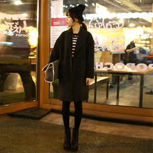 Women Coats Autumn Winter Casual Jackets Long Sleeve Outwear Female Elegant Wool Double Breasted Coat