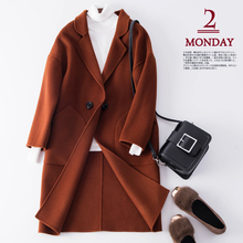 New Year cashmere coat female winter warm jacket Christmas special wool woolen button cardigan