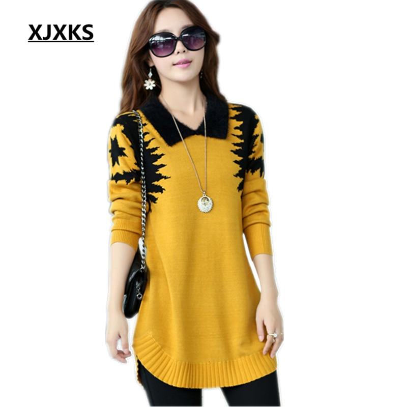 Aliexpress.com : Buy Turn down collar sweater dress women ...