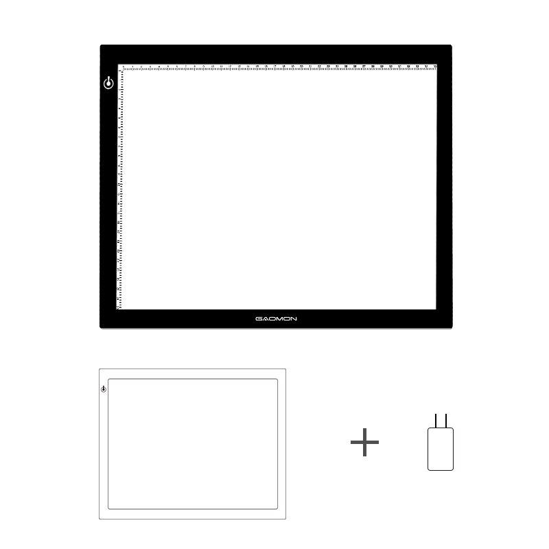 Nouveau panneau de traçage d'art ultra-mince de bloc de lumière ultra-mince de gapacket GB4 boîte à lumière LED 5 MM pour l'esquisse et la copie avec l'adaptateur des états-unis