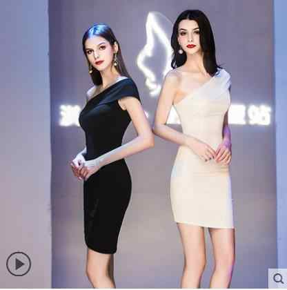 cb190046d9 Customized Women's New Sexy Elegant Slender Wedding Adult Ceremony Party  Company Annual Party Dress Short Dress