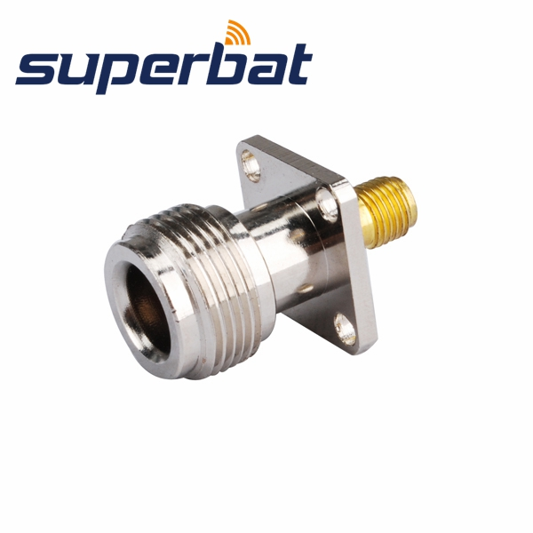 Superbat RF Coaxial Connectors SMA-N Adapter SMA Female Jack Goldplated To N Jack Panel Mount Straight Adapter