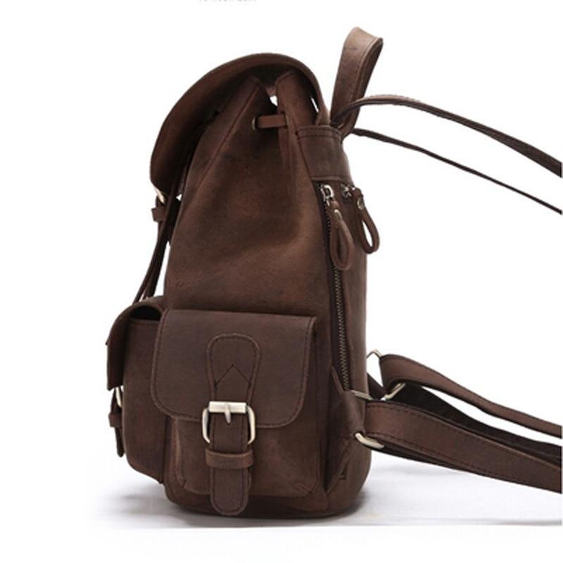 ใหม่100%ธรรมชาติหนังเป้วินเทจผู้หญิงหนังแท้กระเป๋าเป้สะพายหลังสาวสบายๆร้อนกระเป๋านักเรียนที่มีคุณภาพสูงในชีวิตประจำวันกลับกระเป๋า-ใน กระเป๋าเป้ จาก สัมภาระและกระเป๋า บน   2
