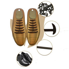 gootrades 12pcs/set 3 Sizes Men Women Leather Shoes Lazy No Tie Shoelaces Elastic Silicone Shoe Lace Suitable Free Shipping