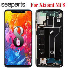 Amoled Screen For Xiaomi Mi 8 LCD Display Touch Screen Digitizer Assembly For Xiaomi Mi8 LCD With Frame Screen Replacement