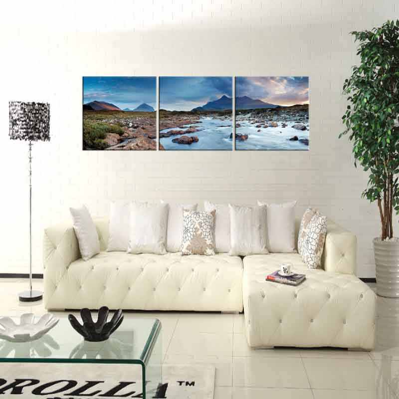 3 Panel HD drukowane oprawione skały rzeki atrakcji nowoczesne dekoracje ścienne do domu plakat krajobraz obraz olejny na płótnie obrazy ścienne oprawione