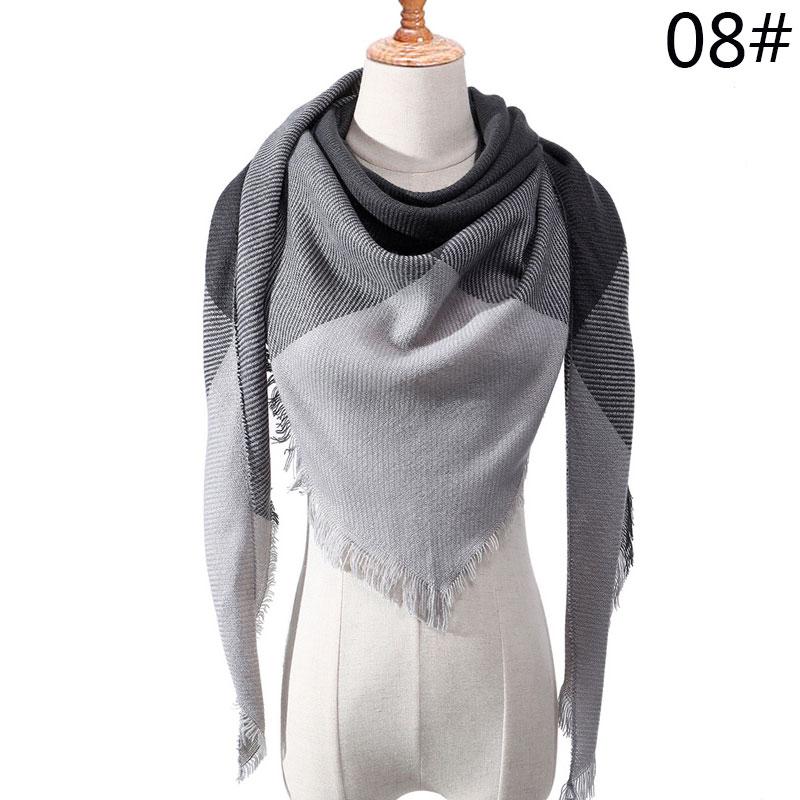 Бренд Evrfelan, шарфы, Прямая поставка, женский зимний шарф, высокое качество, плед, одеяло, шарф и шаль, большой размер, плотные шарфы, шали - Цвет: W19