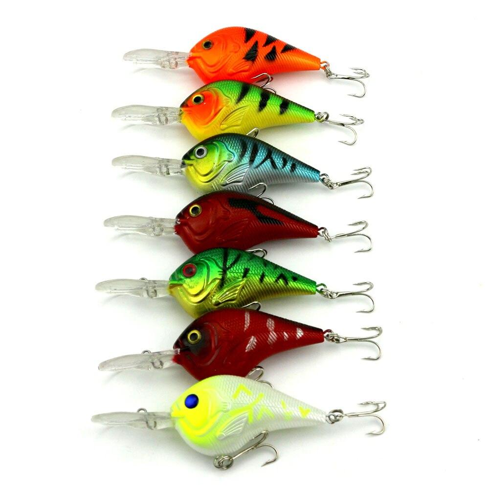 HENGJIA 10pcs 9 5CM 11 2G crankbaits fishing lures plastic wobble bass pike peche trout fishing