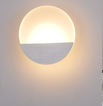 acrylic round led wall lamps ambient light indoor lighting aluminum modern wall sconce fixtures arandela de ambient lighting fixtures