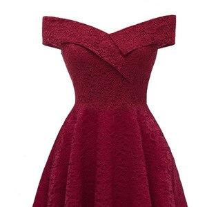 Image 5 - CD1610J # סירת צוואר בורדו קצר תחרה שושבינה שמלות חתונת מפלגה שמלת שמלת נשף סיטונאי הכלה חתונה טוסט בגדים