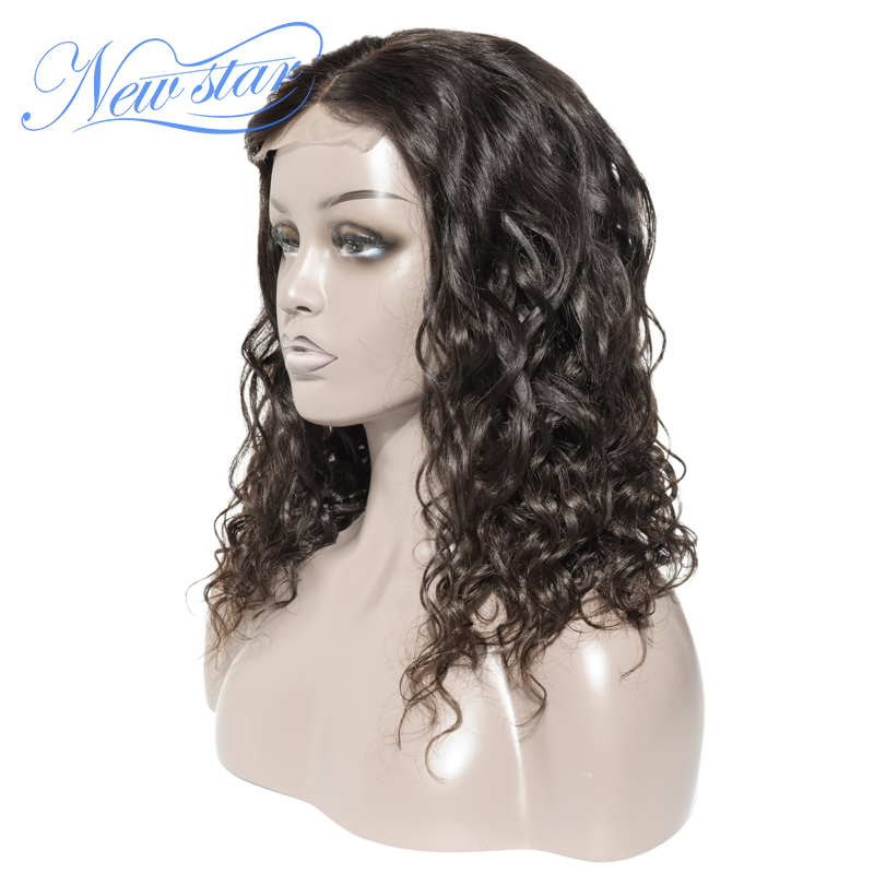 Brazilian Natural Wave Bundles With 4x4 Closure Wigs New Star Virgin Human Hair Wig Pre Pluck Hairline Lace Wigs For Black Women