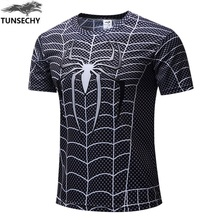 hot deal buy spiderman 3d print t shirts men compression fitness shirts superhero tops costume short sleeve fitness crossfit t-shirts