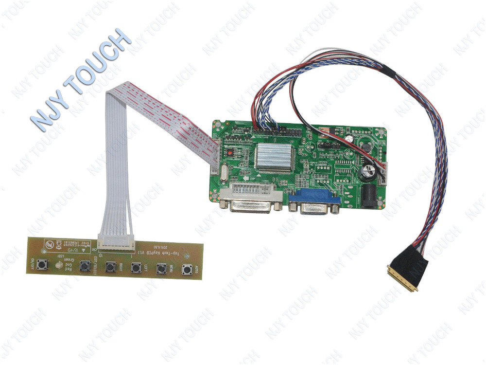 цена на New arrival DVI DVA LCD Controller Board LVDS DIY Kit For LP156WH4(TL)(N2) 1366x768 Screen