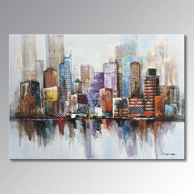 EVERFUN ART Vera arte quadri moderni pittura a olio dipinta A mano ...