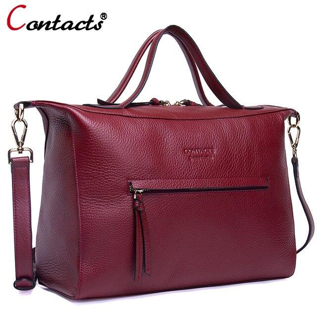 Sacs à main de luxe de marque de Contact sacs à main de femme sac à bandoulière en cuir véritable de concepteur pour les femmes sacs de messager sac à bandoulière de femme