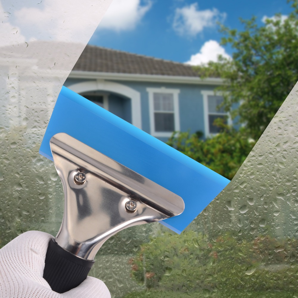 EHDIS Window Glass Water Wiper Handled Rubber Squeegee Snow Ice Scraper Blade Car Auto Car Cleaner Vinyl Tint Tool Cleaning Tool