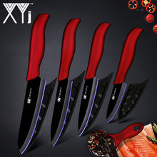 "XYj Kitchen Knife Ceramic Knife Cooking Tools Set 3"" 4"" 5"" inch + Peeler White & Black Blade Paring Fruit Vege Kitchen Tools(China)"
