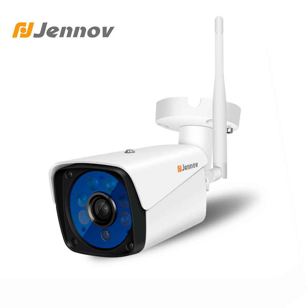 Jennov IP Camera Wifi 1080P 960P 720P ONVIF Wireless Wired P2P CCTV Bullet Outdoor Camera With Miscro SD Card Slot Max 64G gadinan hd 1080p 960p 720p wireless ip camera p2p rtsp motion detected waterproof wifi camera bullet with 64g sd card slot icsee