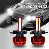 EURS 2PCS R7 H1 H4 H7 H8 H9 H11 H13 9005 9006 Auto Led Headlight 9600LM