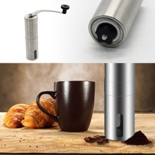 New Manual Coffee Grinder Conical Burr Mill Hand Crank Stainless Steel Home Tool