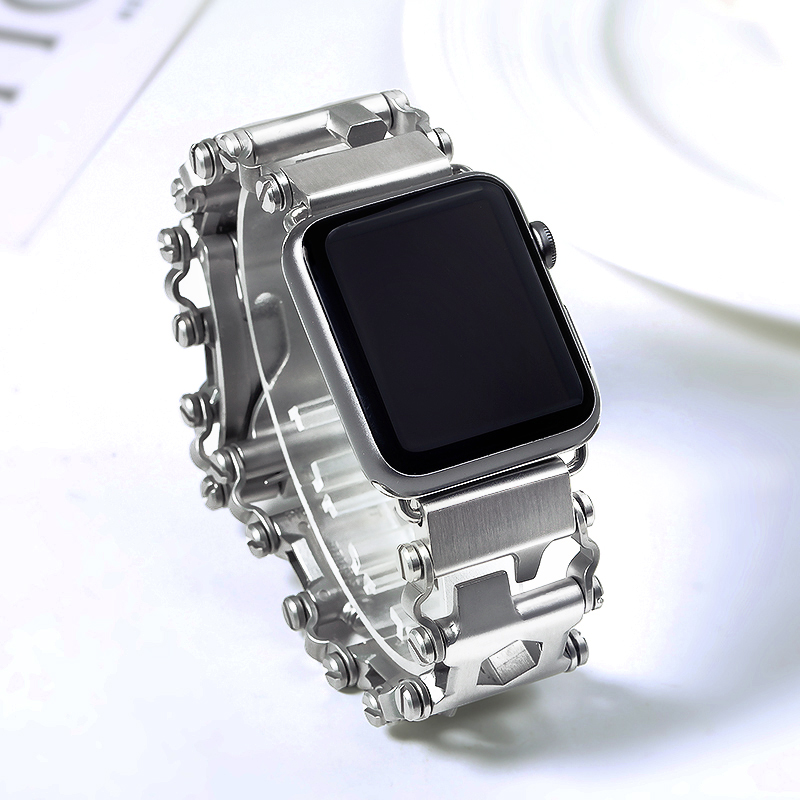 304 Stainless Steel Brushed Unique Design Men Watchband 38mm 42mm for Apple Watch iWatch Watch Bands