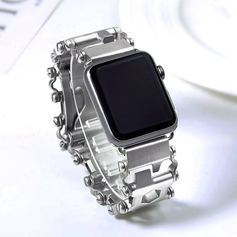 304 In Acciaio Inox Spazzolato Design Unico Degli Uomini Cinturino 38mm 42mm per Apple iWatch Cinturini Per Orologi