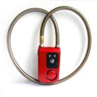 Smartphone Bluetooth Remote Control Smart Waterproof Chain Lock Steel Bicycle Anti Theft