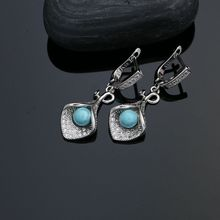 925 Sterling Silver Blue Pearl Beads Added Jewelry Set